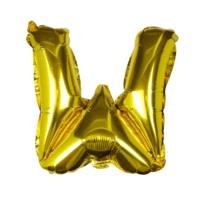 Gold Foil Letter W Balloon