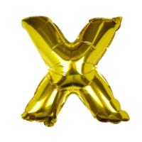 Gold Foil Letter X Balloon