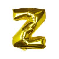 Gold Foil Letter Z Balloon