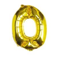 Gold Foil Number 0 Balloon