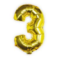 Balloons - Gold Foil Number - 3