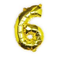 Balloons - Gold Foil Number - 6
