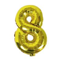 Balloons - Gold Foil Number - 8