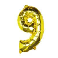 Balloons - Gold Foil Number - 9