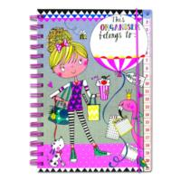 Organiser - Girl, Balloon & Flamingo