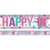Happy 18th Birthday Pink  Banner
