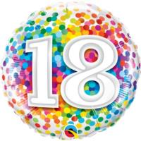 18th Birthday Confetti Balloon