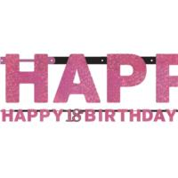 Pink Celebration 18th Birthday Banner