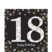 Sparkling Celebration Age 18 Napkins