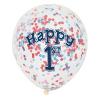6 Pack Nautical Boy 1st Birthday Confetti Balloon