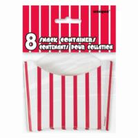 Red & White Striped Snack Containers