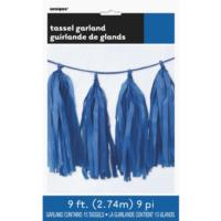 Royal Blue Tassel Garland