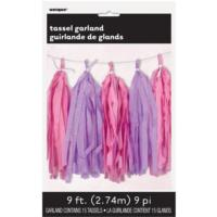 Pink & Purple Tassel Garland