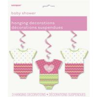 Pink Polka Dot Hanging Decorations