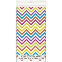 Rainbow Chevron Table Cover