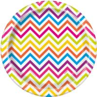 Rainbow Chevron Plates 7