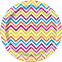 Rainbow Chevron Plates 9