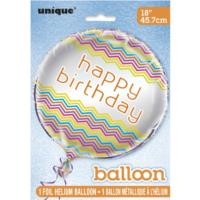 Rainbow Chevron Foil Balloon