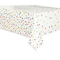 Rainbow Polka Dot Table Cover
