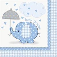 Umbrellaphants Blue Luncheon Napkins