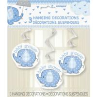 Umbrellaphants Blue Hanging Decorations