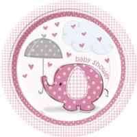 Umbrellaphants Pink Plates 9