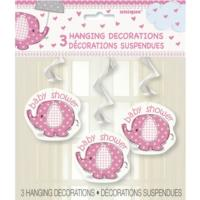 Umbrellaphants Pink Hanging Decoration