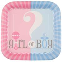 Gender Reveal Baby Shower Plates 9