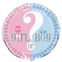 Gender Reveal Baby Shower Foil Balloon
