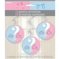 Gender Reveal Baby Shower Hanging Decorations