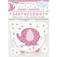 Umbrellaphants Pink Jointed Banner