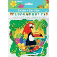 Tropical Island Luau Party Banner