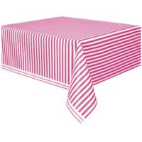 Hot Pink Stripes Table Cover