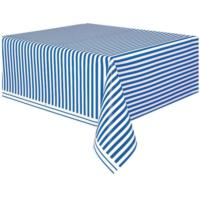 Royal Blue Striped Table Cover