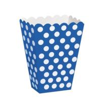 Royal Blue Dot Treat Boxes