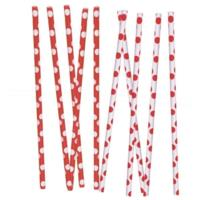 Ruby Red Dot Straws