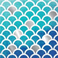 Ocean Blue Cocktail Napkins