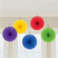 Rainbow Paper Fan Decorations