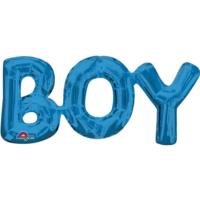 Boy Blue Foil Phrase Balloon