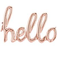 Hello Rose Gold Foil Balloon