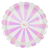 Iridescent Striped Large Plates