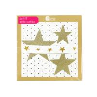 Say It With Glitter Gold Star Garland
