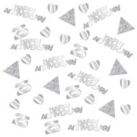 25th Silver Wedding Anniversary Confetti