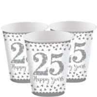 25th Silver Wedding Anniversary Cups