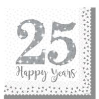 25th Silver Wedding Anniversary Napkins