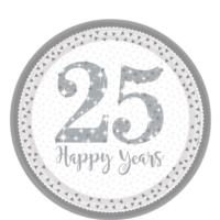 25th Silver Wedding Anniversary Plates