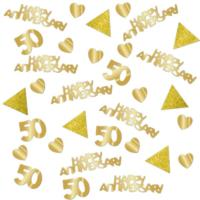50th Gold Wedding Anniversary Confetti