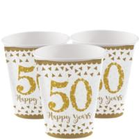 50th Gold Wedding Anniversary Cups