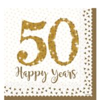 50th Gold Wedding Anniversary Napkins