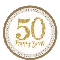50th Gold Wedding Anniversary Plates